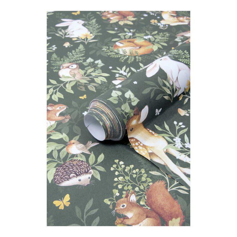 Behang Bosdieren Donker Forest Lilipinso Babykamer Kinderkamer Thema Muur QIDDIE.com lili-H0644-br