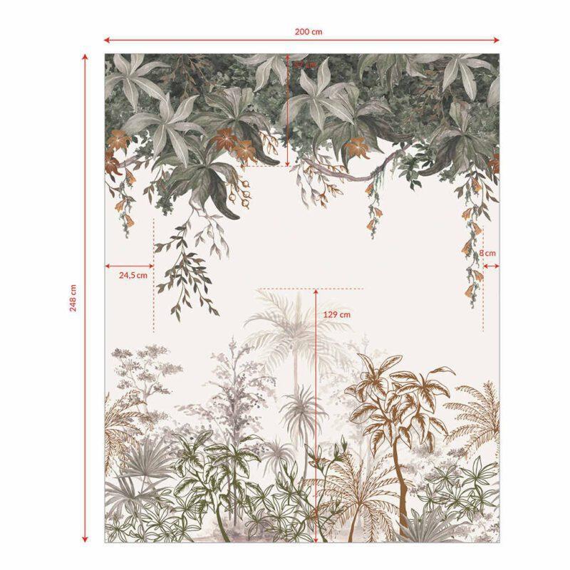 Behang Jungle Landschap Utan Lilipinso Jungle Wand Muur Vliesbehang Bomen Lianen QIDDIE.com lili-H0647