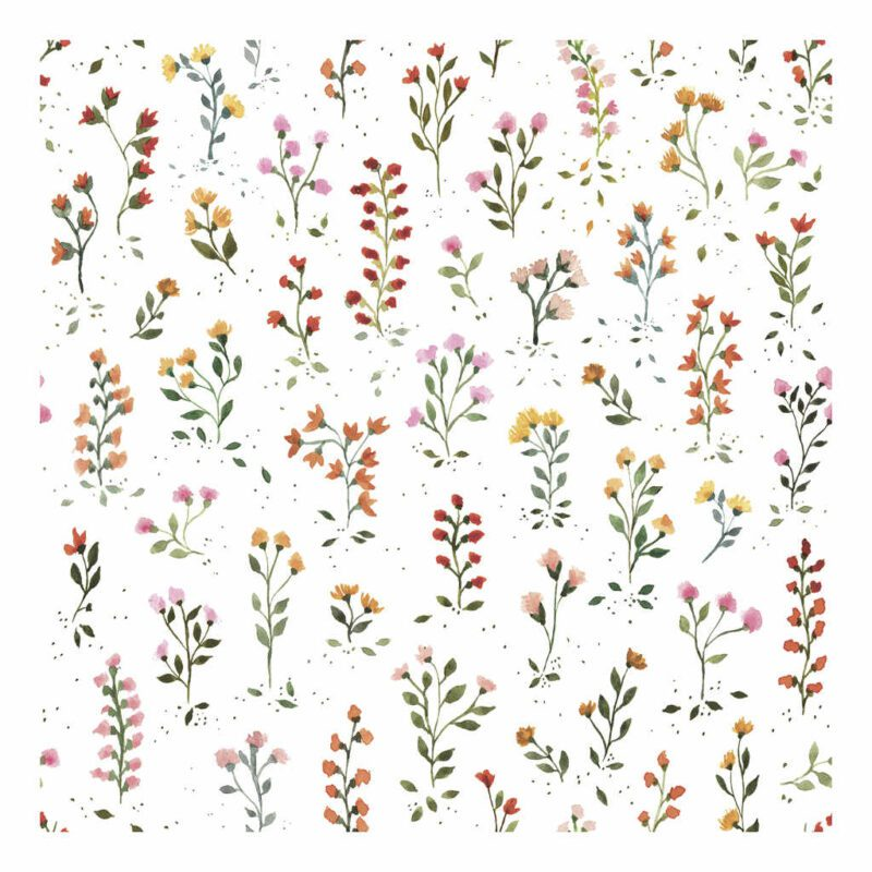 Behang Meadow Flowers Queyran Lilipinso Weide Bloem Rood Geel Oranje Wit Roze Meisjes Baby Peuter Kamer QIDDIE.com lili-H0648