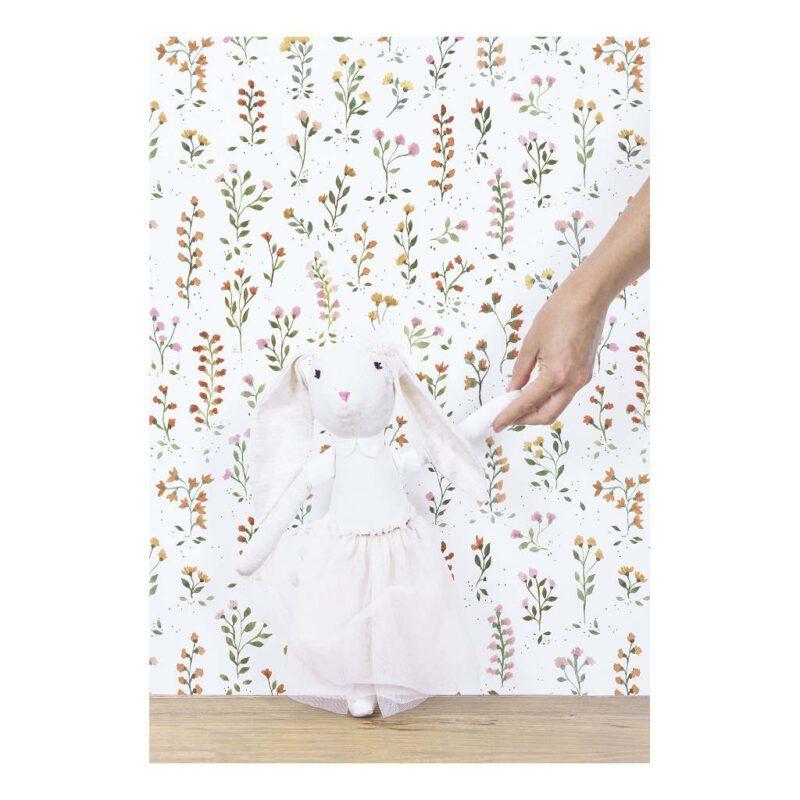 Behang Meadow Flowers Queyran Lilipinso Weidebloemen Muur Vlies Kind Peuter Kleuter Kinder Kamer Meisje QIDDIE.com lili-H0648