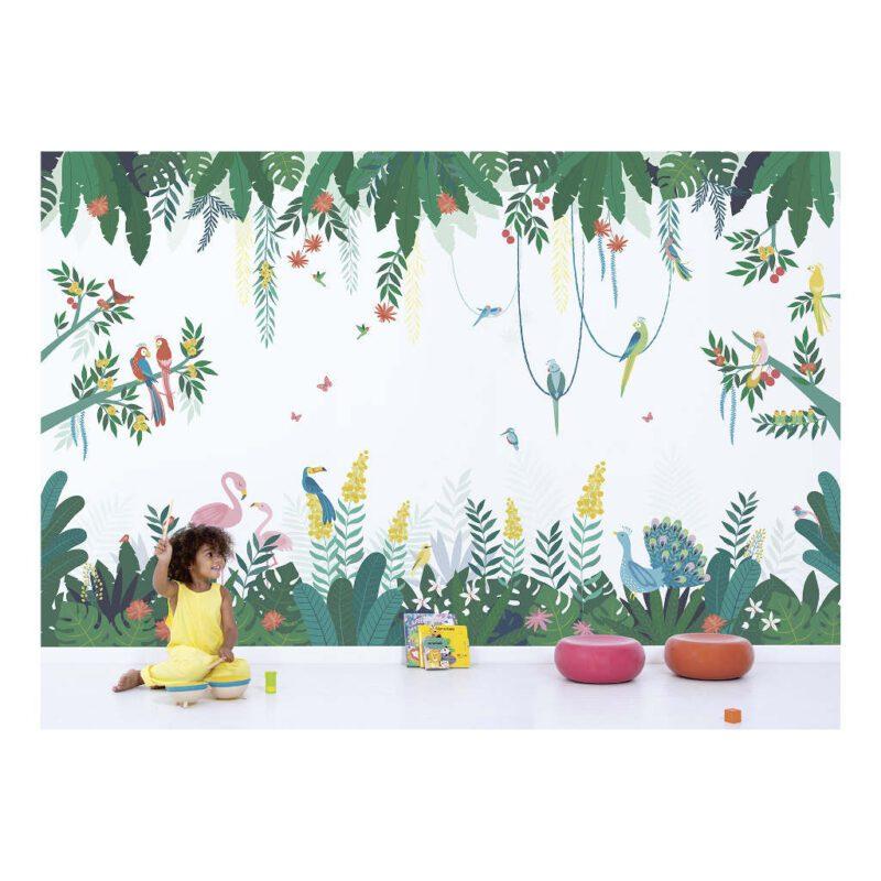 Behang Tropisch Eiland Rio Lilipinso Baby Peuter Kleuter Kinder Speel Kamer QIDDIE.com Lili-H0641