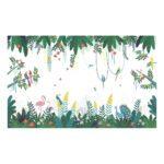 Behang Tropisch Eiland Rio Lilipinso Vogels Flamingo Vlinder Papagaai Bomen Natuur QIDDIE.com Lili-H0641