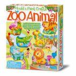 Dierentuin Giet En Verven 4M Zoo Dieren Gips Magneet Speld Jongen Meisje Cadeau Kado 4msp-5604753