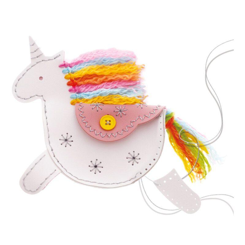 Eenhoorn Kunstleer Maken 4M Unicorn Naaien Haken Knutselen Creatief Kreatief Cadeau Kado Kind 4msp-5604758