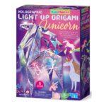 Eenhoorn Origami Licht Maken 4M Girls Meisjes Unicorn Glitters Papier Vouwen Holographic Kidz Maker 4M Speelgoed Verlicht Knutsel Ontdek 4msp-5604776