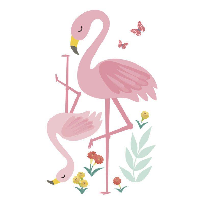 Flamingo Muursticker L Rio Lilipinso Decoratie Muur Jungle Rio De Janeiro QIDDIE.com lili-s1431