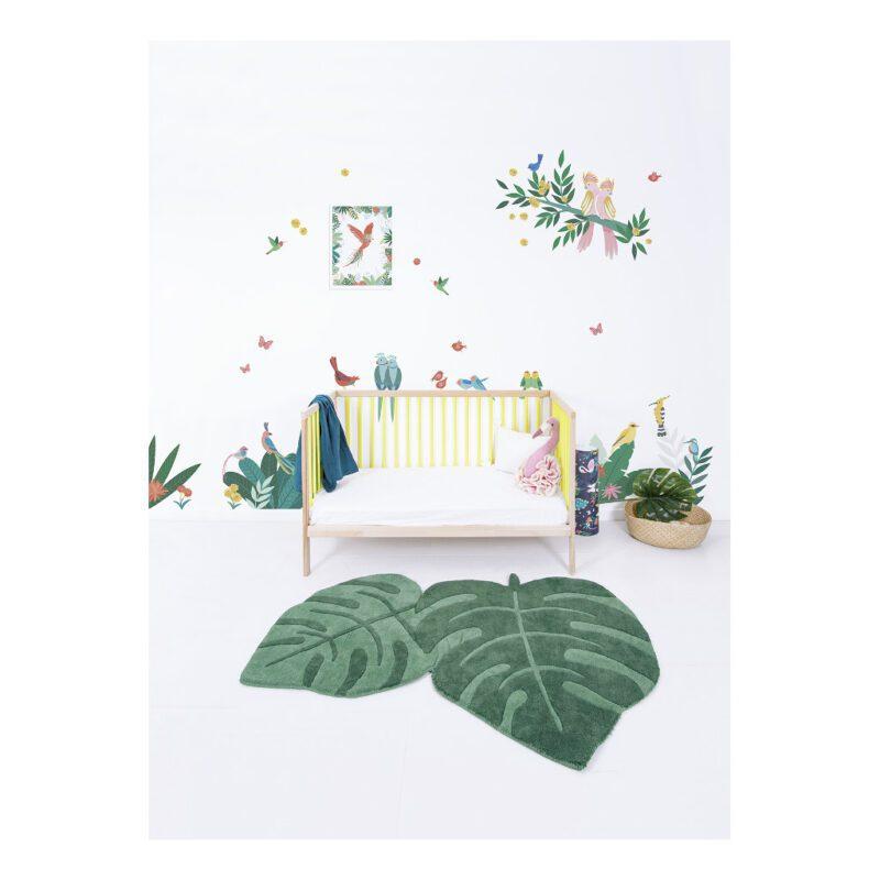 Kaketoe Op Tak Muursticker L Rio Lilipinso Muur Decoratie Kinder Peuter Kleuter Baby Kamer Vogels Roze Papagaai lili-S1427