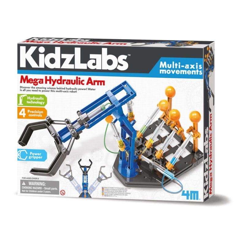 Mega Hydraulische Robot Arm Maken 4M Kidzlabs Bouw Ontdek Techniek Pakket Robot Arm Maken Links Recht Bewegen Grijpen Pakken Keren Mechanisch 4msp-5603427