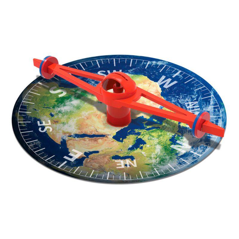Mega Kompas Maken 4M Wereldbol Afbeelding Compas Leren Ontdekken Noord Oost Zuid West Werelddelen 4msp-5603438