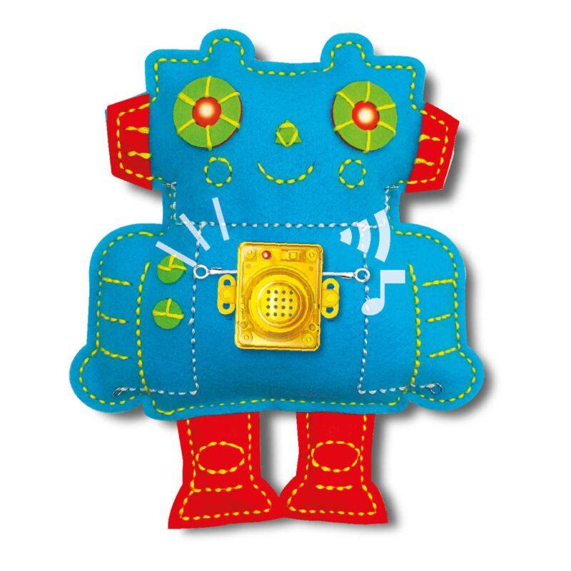 Robot Naaien 4M Grappig Lief Schattig Meisjes Naai Werk Hand Werk Geluid Drukken Spelen Kind 4msp-5604911