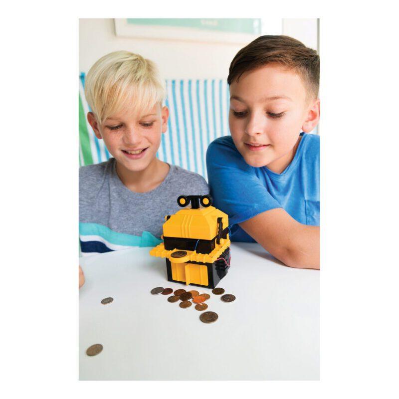 Robot Spaarbank Maken 4M 14 Cm Groot Jongen Meisje Speelgoed Bouwen Ontdek Tellen Leren 4msp-5603422