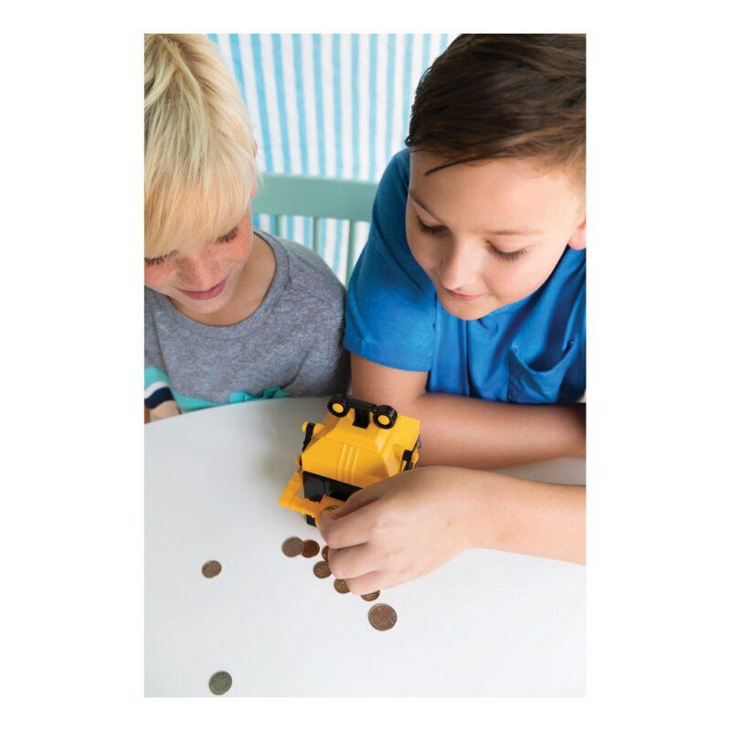 Robot Spaarbank Maken 4M Geel Zwart Leggen Inslikken Sparen Muntjes Geld 4msp-5603422