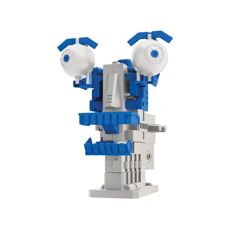 Robotkop Met Motor Maken 4M Blauw Grijs Gezicht Face Bouw Ontdek Speelgoed 4msp-5603412