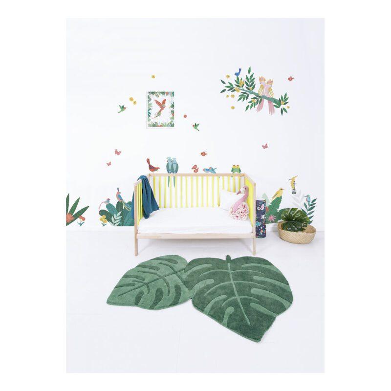 Tropisch Decor Muursticker Xl Rio Lilipinso Baby Peuter Kleuter Kinder Speel Kamer Wachtruime QIDDIE.com Lili-s1430