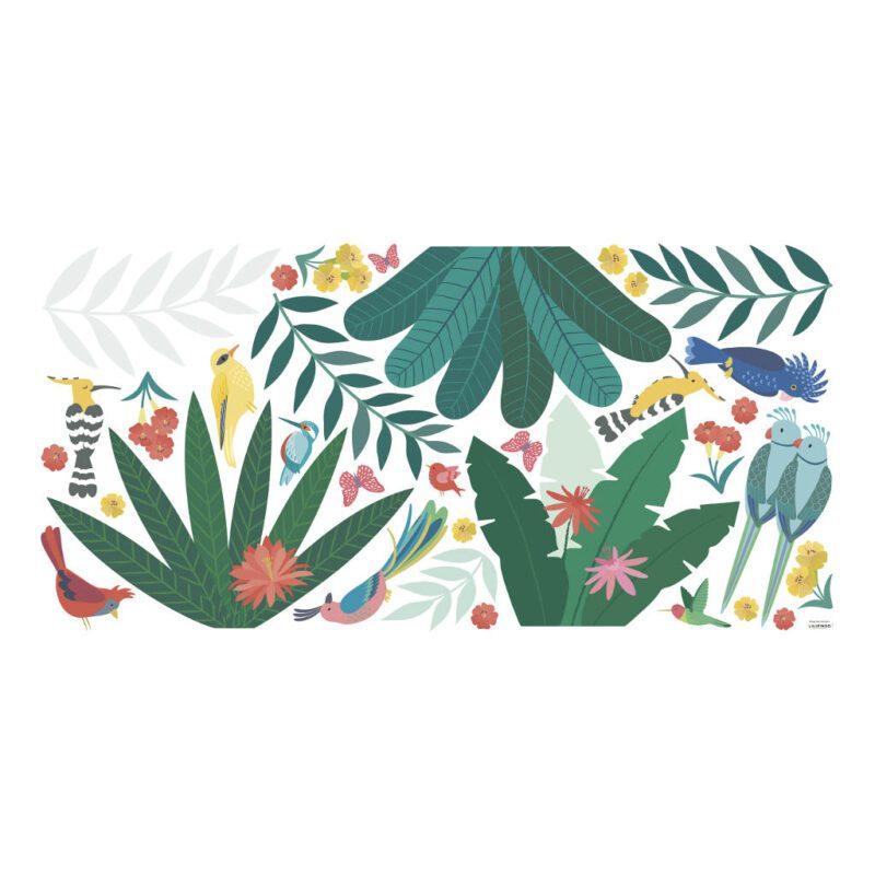 Tropisch Decor Muursticker Xl Rio Lilipinso Bladeren Vogels Jungle Aankleding Jungle Kamer Kinder Peuter QIDDIE.com lili-S1430