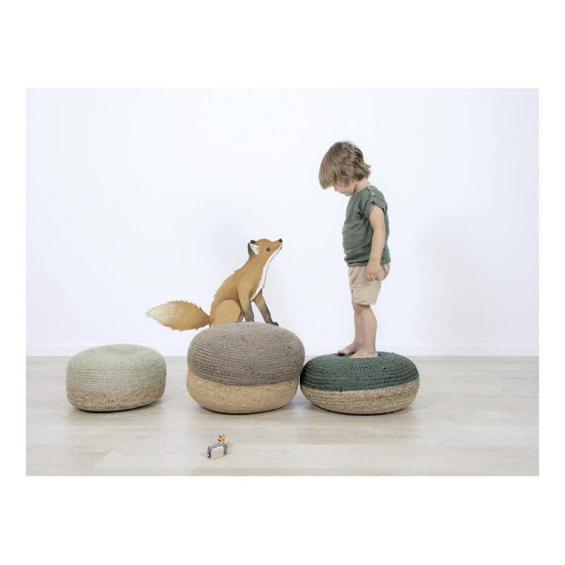 Vintage Fox Muursticker L Forest Lilipinso Speciaal Formaat Muur Decoratie Kind Peuter Kleuter Baby Kamer QIDDIE.com lili-S1448