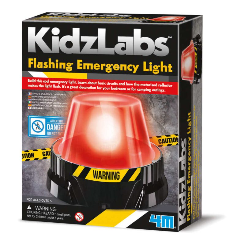 Zwaailicht Maken 4M Rood Alarm Licht Maken Bouw Pakket Knutsel Ontdek Pakket 4msp-5603444