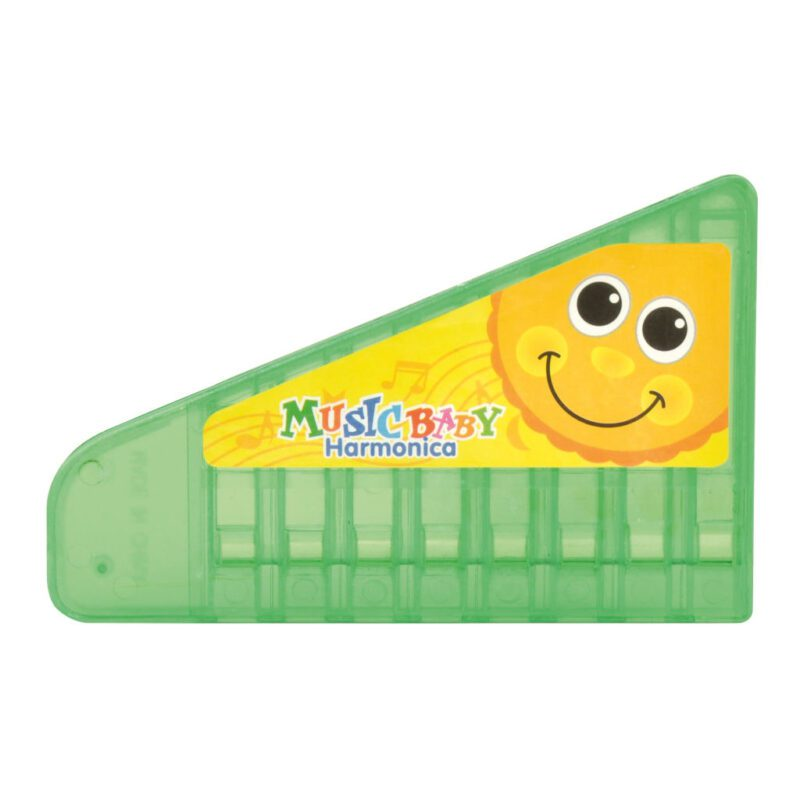 Kinder Mondharmonica Groen Muziek Maken Verjaardag Traktatie Kind Peuter Kleuter School Kinderopvang Dapper edup-130225