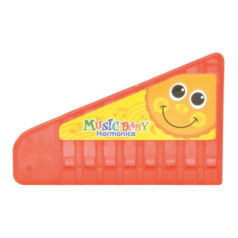 Kinder Mondharmonica Kunststof Rood Kind Peuter Kleuter Kado Cadeau Beloning Presentje edup-130225